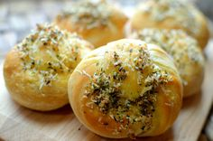 Garlic Parmesan Knots- Made from canned biscuits.