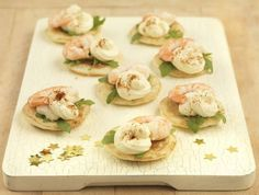 King prawn blinis