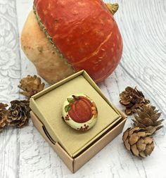 Pumpkin and sunflowers fabric button brooch Autumn lover £9.00 Daily Challenges, Beautiful Gifts, Gifts For Friends, Brooch, Autumn, Fabric, Handmade, Tejido, Tela