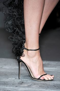 The beautifully ethereal black shoes found at Valentino's RTW S/S 2010 runway show