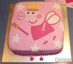 Princess Peppa Cake - Square with Stars Design