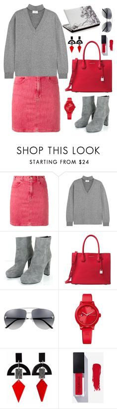 """""""Untitled #2179"""" by ebramos ❤ liked on Polyvore featuring Frame, Allude, Prada, Michael Kors, Tommy Hilfiger and Toolally"""