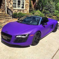 Audi in matte purple. If i am ever lucky enough to drive something like this, I can die happy. Audi Sports Car, Audi Cars, Audi Tt, Audi 2017, Maserati, Bugatti, Rolls Royce, My Dream Car, Dream Cars