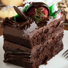 This fudge layer cake recipe is so rich and moist. Chocolate, chocolate, chocolate. Mmmmm, so yummy.. Fudge Layer Cake Recipe from Grandmothers Kitchen.