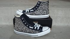 Custom Studded Converse Shoes Swarvoski & Spikes by CustomStudded, $300.00