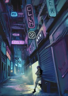 A collection of cyberpunk, art, bikes, cars, noir and other stuff I like Cyberpunk Aesthetic, Cyberpunk City, Cyberpunk 2077, Fantasy Landscape, Fantasy Art, Neon Noir, Steampunk, Environment Concept Art, Character