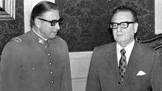 Por qué el golpe de Estado en Chile es tan emblemático: Salvador Allende y Augusto Pinochet. AFP