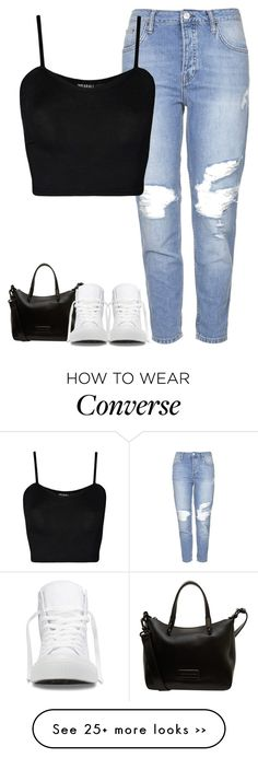 """""""Angel"""" by fanny483 on Polyvore featuring Topshop, WearAll, Marc by Marc Jacobs and Converse"""