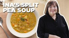 Ina Garten's classic split pea soup is perfect for any winter night! Barefoot Contessa, Pea Recipes, Soup Recipes, Split Pea Soup Recipe, Paella Recipe, Orange Recipes, Soup And Sandwich, Healthy Soup, Healthy Eating
