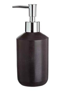 Pompe à savon façon pierre - Noir - Home All   H&M FR 1