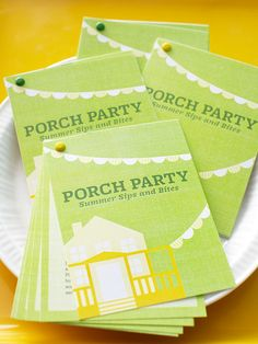 Free Recipe Booklet for Porch Party (the idea is great, can be adapted)