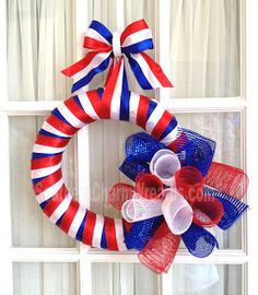 Since I will be staying with family this Memorial Day weekend, I wanted to make a small wreath to give as a hostess gift. This wreath cam...