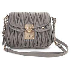 MIUMIU 079 gray new winter sheepskin female messenger bag