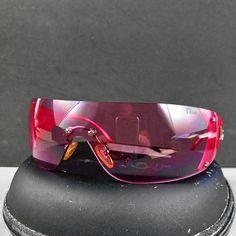 ec25cb5c2e0 Christian Dior Pink Ski 6 Frameless Sunglasses WQ8 120 w Case   Cloth