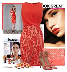 Coral Color by erina-i on Polyvore featuring polyvore, fashion, style, Little Mistress, Office, Vera Bradley, Anna Griffin and clothing