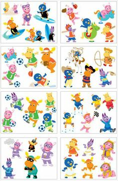 BACKYARDIGANS STICKERS LOT OF 12 PACKAGES PARTY SUPPLIES