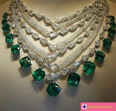 @blissfromparis. Breathtaking Emerald and diamond necklace by @boghossianjewels , it's a fresh take on the most loved classic..