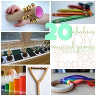 20 fabulous DIY musical instruments for kids! Toddler Learning Activities, Music Activities, Craft Activities For Kids, Projects For Kids, Games For Kids, Diy For Kids, Kids Learning, Crafts For Kids, Music Games