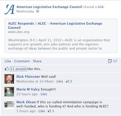 """""""Who is funding #ALEC?"""""""
