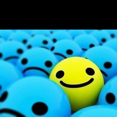 I am yellow in a sea of blue....