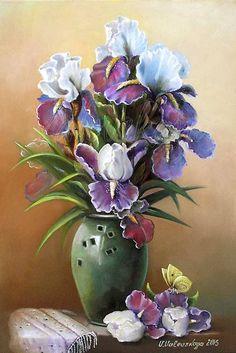 Картины (живопись) : Букет ирисов