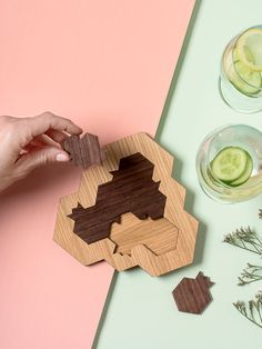 Wooden mind game for Rosh HaShanah Pomegranate and honey hive shaped challenging puzzle Modern Judaica gift for Rosh Hashanah. Jewish Holiday Inspiration