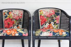 Before | After: Faux Bamboo Cane Chairs + How To Reupholster A Chair | PHOENIX RESTORATION