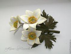 Весна на Sees All Colors: Кожаные цветочки Марины Тепляковой