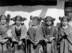 Hopi girls. Ca. 1900. Photo by C.C. Pierce