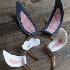 Free printable bunny ears easter rabbit ears holidays diy easter bunny and lamb ears by lia griffith project felting home decor pronofoot35fo Images