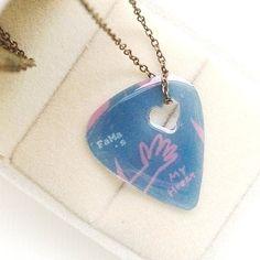 ❤七夕抽獎贈品❤FaMa‧s Pick吉他彈片-空心 心不空(特別版項鍊) - FaMa‧s Pick | Pinkoi