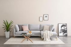 Adams Chaise Sectional Sofa, Dove Gray, Right Facing, Brass Grey Sectional Sofa, Living Room Sectional, Chaise Sofa, Home Living Room, Living Room Decor, Couches, Sleeper Sectional, Scandinavian Sofas, Classic Living Room