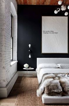 Here we showcase a a collection of perfectly minimal interior design photos for you to use for inspiration.Check out the previous post in the series: Inspiring Examples Of Minimal Interior Design 2 Wall Decor Bedroom, Interior Design, Bedroom Interior, Edgy Bedroom, Mens Bedroom, Minimalism Interior, Bedroom Diy, Industrial Style Bedroom, Accent Wall Bedroom