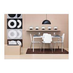 VILMAR Tuoli - valkoinen/kromattu - IKEA