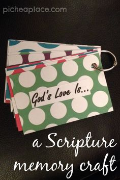 God's Love Is: Tutorial | a Scripture memory craft