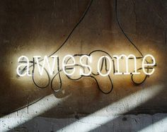 YES Mounted Neon Sign Ready-made by MarcusConradPoston on Etsy