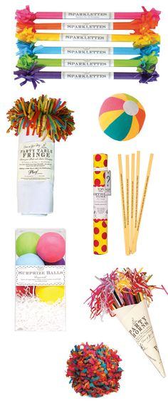 Tops Malibu party supplies include sparklers, party noise makers, surprise balls and more