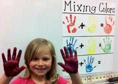 """""""Hands on"""" way to show kids color combos."""