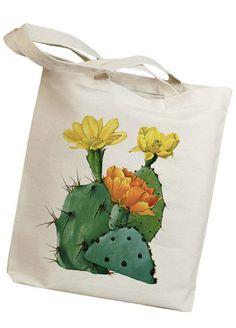 Cactus Flower Tote