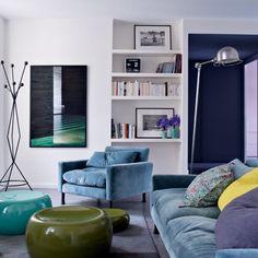 Blue & Green _ velvet _ Marie Claire Maison