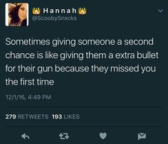 Exactly! Thats y anit no second chance wit me... I believe u the first time