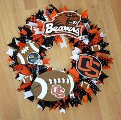 Oregon State Beavers Football Wreath