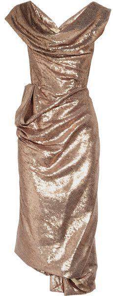 VIVIEENE WESTWOOD   Paillette-embellished Corset Dress - love the drape