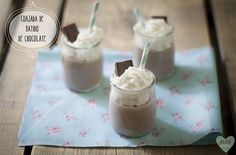 Cuajada de batido de chocolate /Chocolate milkshake curd