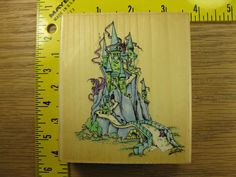 CASTLE BY STAMP OASIS BERGSMA Rubber Stamp #889