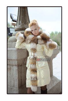 New Women's Lady 90% Duck DOWN Real Fur COAT JACKET Winter PARKA  big size S-5XL