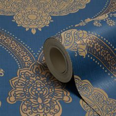 Holden Décor Moselle Blue Damask Wallpaper | Departments | DIY at B&Q