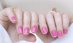 nail art rosa branco pink white chiffon chic maybelline
