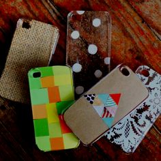 diy iPhone case.. buy clear case on eBay, and fill with paper design, fabric, etc