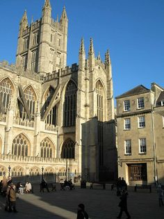 Bath Abbey, Bath, England. That's where they have the statue dedicated to water.